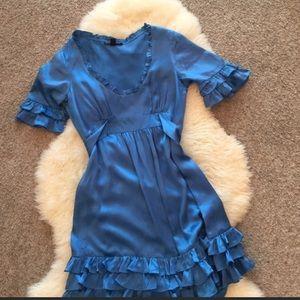 Betsy Johnson blue silk dress